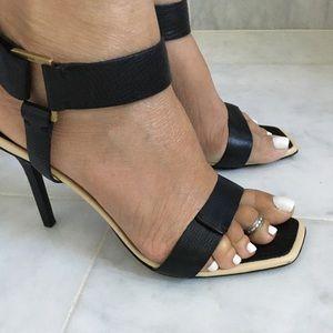 Gucci square toe stiletto sandals